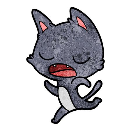 pratende kat cartoon