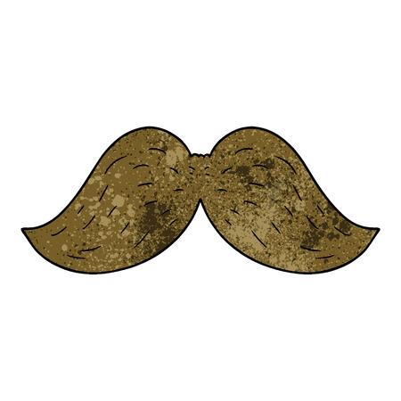 cartoon mustache illustration design.
