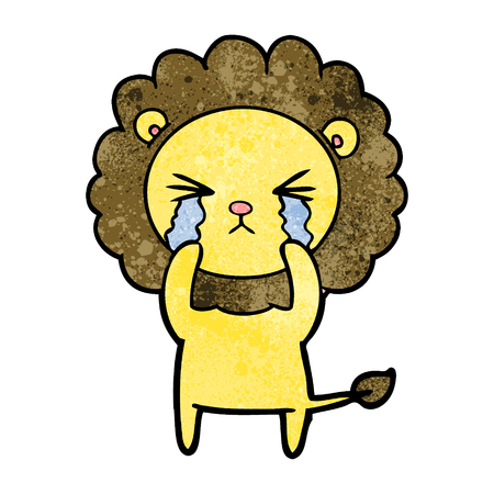cartoon crying lion Stock Vector - 94941920
