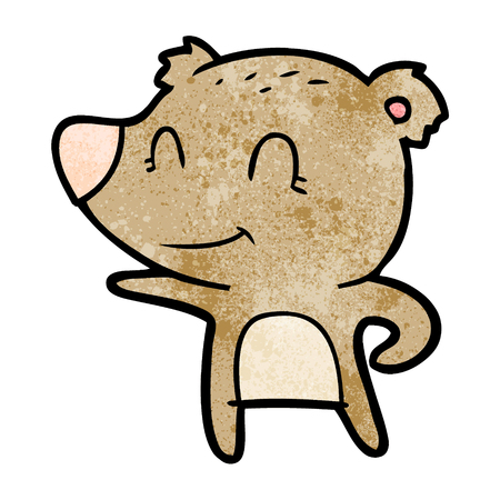 friendly bear cartoon Ilustração