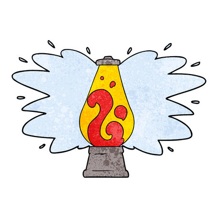 cartoon retro lava lamp