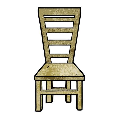 Desenhos animados de cadeira de madeira velha Foto de archivo - 94963985