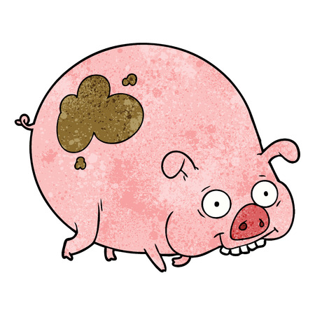 cartoon muddy pig