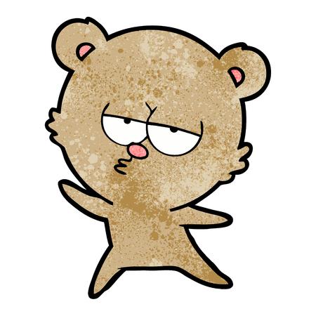 bored bear cartoon Ilustração