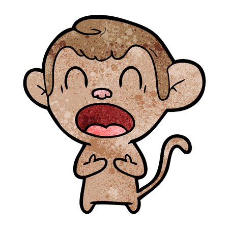 shouting cartoon monkey Stock fotó - 94990386