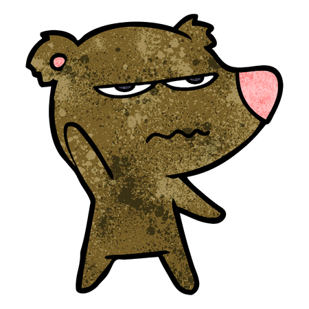 annoyed bear cartoon Ilustração