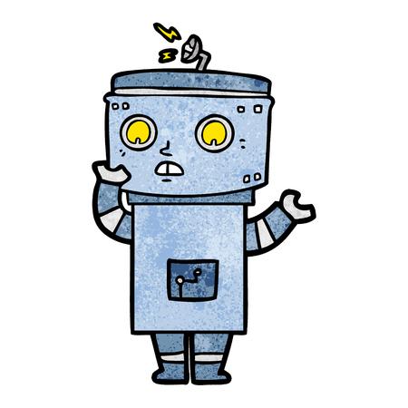 cartoon robot illustration design. Stok Fotoğraf - 94990560