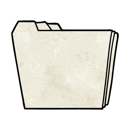 Cartoon business folders Illusztráció