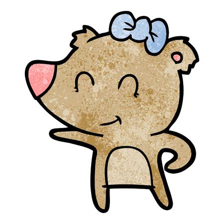 Cartone animato orso femmina Archivio Fotografico - 94960593