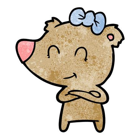 Cartone animato carino orso femmina Archivio Fotografico - 94960610