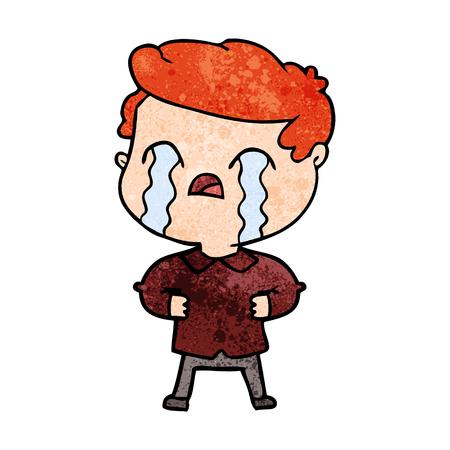 Caricatura, homem, chorando Foto de archivo - 94961984