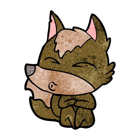 Cartoon wolf whistling