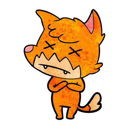 Cartoon cross eyed fox