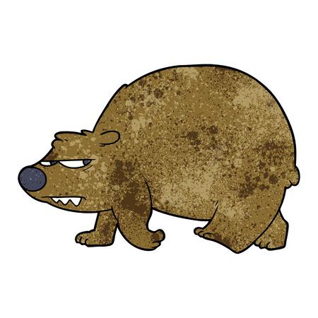 Cartoon angry bear Illustration