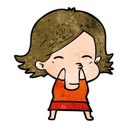 cartoon woman Vector illustration. Stok Fotoğraf - 94982824