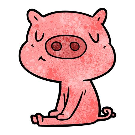 만화 콘텐츠 돼지 명상