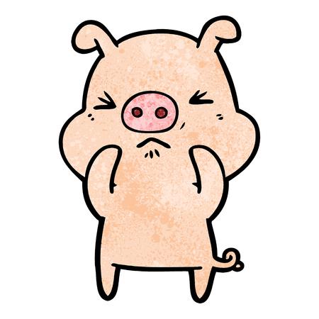Cartoon wütend Schwein Standard-Bild - 94990680