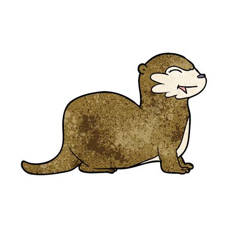 laughing otter cartoon Ilustracja