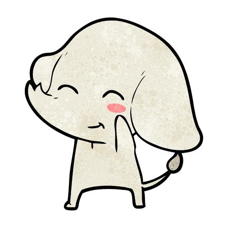 Elefante de dibujos animados lindo Foto de archivo - 94990719
