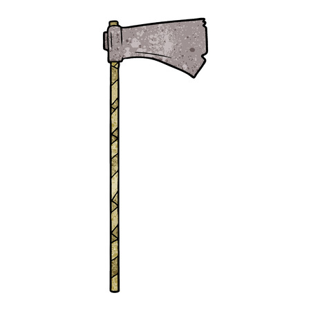 A cartoon of medieval war ax on white background. Illustration