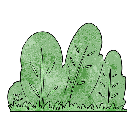 A cartoon hedge on white background. Illustration