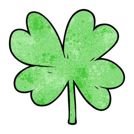 A cartoon four leaf clover on plain presentation.