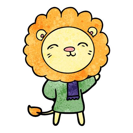 A cartoon lion on plain presentation.