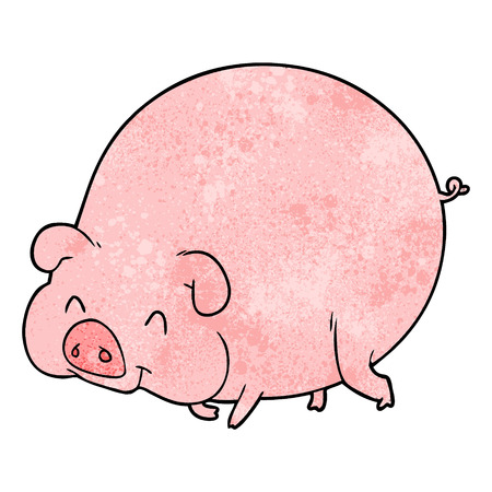 A cartoon pig on plain presentation. Иллюстрация