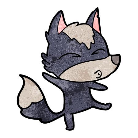 cartoon wolf pouting