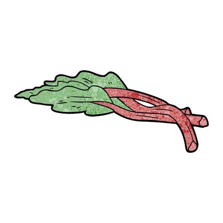 cartoon rhubarb Stock Illustratie