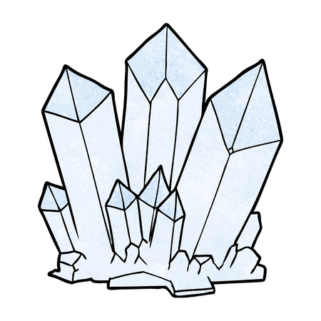 Hand drawn cartoon crystals