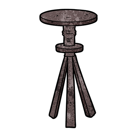 Hand drawn cartoon stool