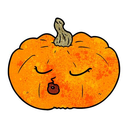 Hand drawn cartoon pumpkin Illustration