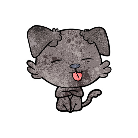 A cartoon dog sticking out tongue