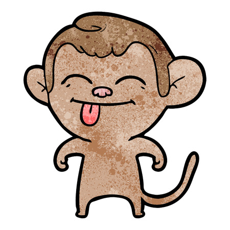 A funny cartoon monkey