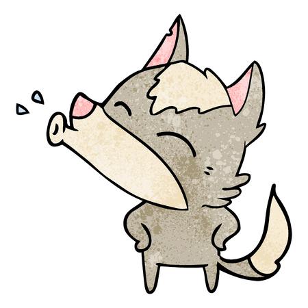 Una caricatura lobo aullando Foto de archivo - 95008831