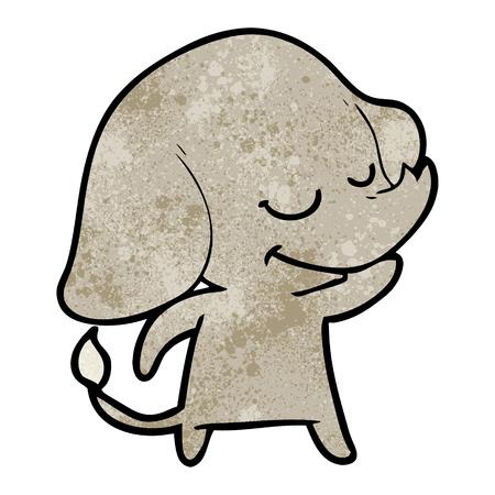 cartoon smiling elephant