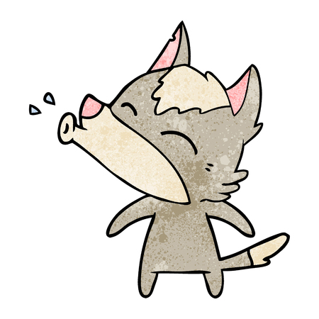 howling wolf cartoon Vector illustration. Archivio Fotografico - 95015432