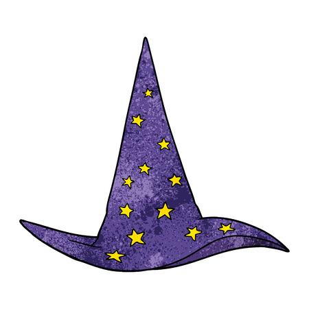 Cartoon Zauberer Hut Vektor-Illustration Standard-Bild - 95015479