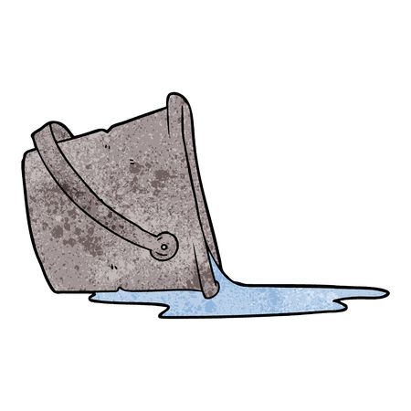 cartoon spilled bucket of water