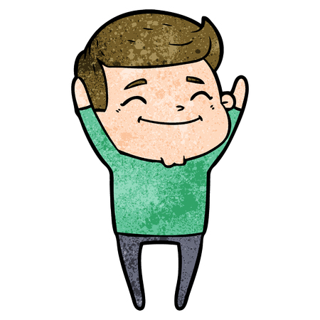 happy cartoon man Vector illustration.