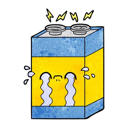 cartoon crying battery Ilustrace