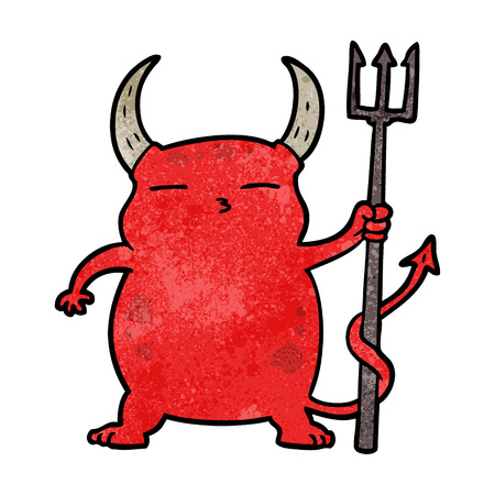 cartoon little devil Illustration