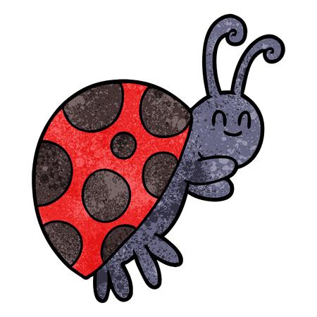 Cute cartoon ladybug