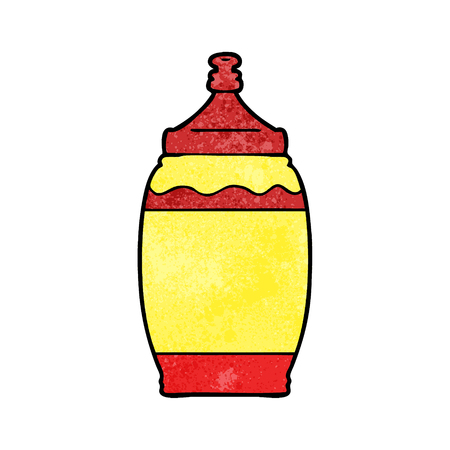 Cartoon ketchup bottle