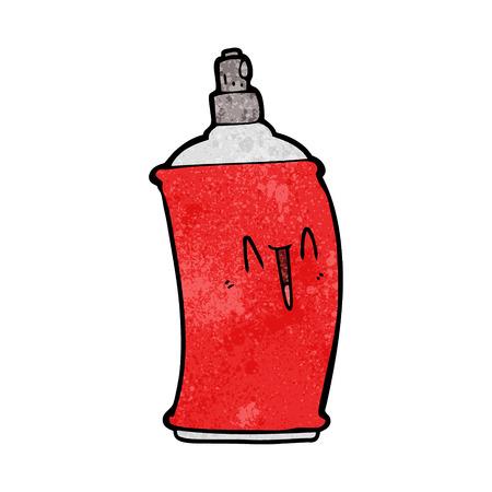 Cartoon happy spray can Ilustração
