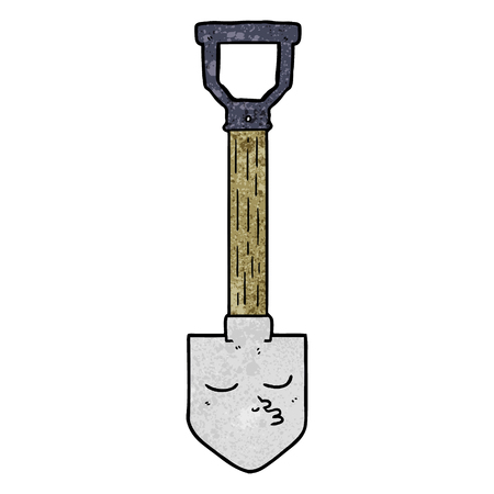 Cartoon shovel 일러스트