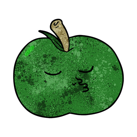 Cartoon high quality green apple Illustration