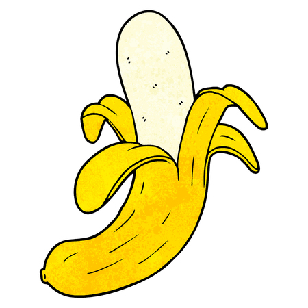 Plátano de dibujos animados Foto de archivo - 95017751