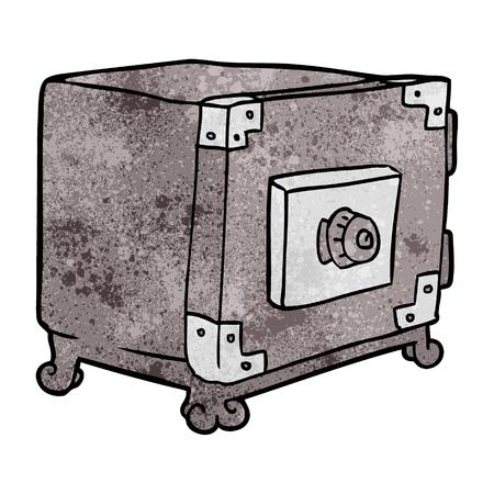 漫画伝統的な金庫  イラスト・ベクター素材